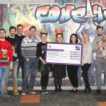 NIXON team hands over cheque to Glasgow Children's Hospital Charity