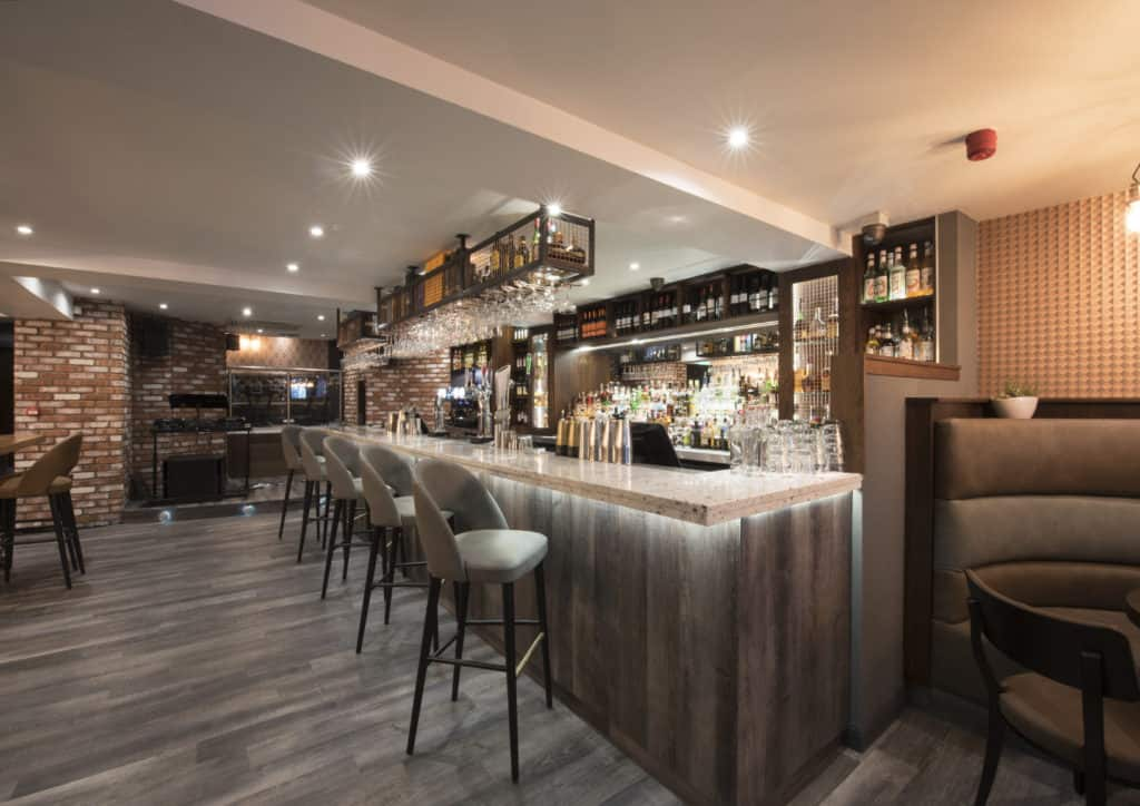Internal refurbishment of bar in edinburgh